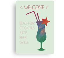 Welcome beach bar Canvas Print