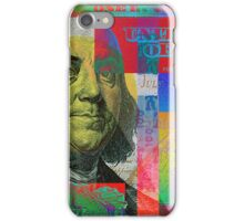 Pop-Art Colorized One Hundred US Dollar Bill iPhone Case/Skin