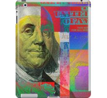 Pop-Art Colorized One Hundred US Dollar Bill iPad Case/Skin