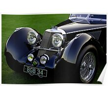 1937 Squire Corsica Short Chassis Roadster Headlight Detail Poster