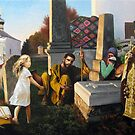 Repentance janissaries at the grave of his father. by Victor Arseni