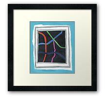 Neon Lines Framed Print