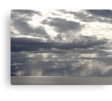 Sun and clouds, light and rain - new creation of an artwork by the nature Canvas Print