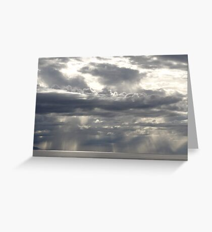 Sun and clouds, light and rain - new creation of an artwork by the nature Greeting Card