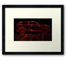 Wire Car Framed Print