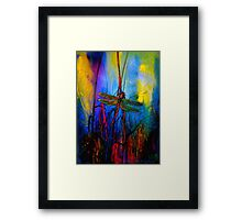 Early One Morning..Dragonfly Towards The Light #5 Framed Print