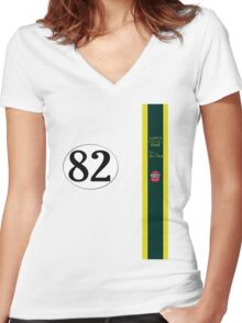 Jim Clark 1965 Indy 500 winning team Lotus Women's Fitted V-Neck T-Shirt