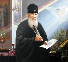 Conversation with the Patriarch of Moscow and All Russia Alexy II (Feb. 23, 1929 - December 5, 2008) under the arches of the Moldavian monastery. Vision of December 10, 2008. by Victor Arseni