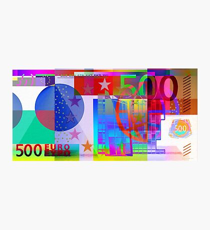 Pop-Art Colorized Five Hundred Euro Bill Photographic Print