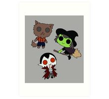 Adorable Monsters Art Print