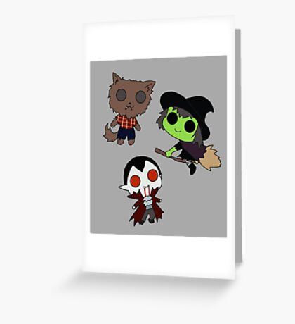 Adorable Monsters Greeting Card