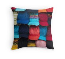 Knit caps Throw Pillow