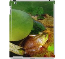 Frog in the Lily Pads iPad Case/Skin