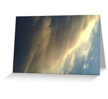 the watcher in the clouds Greeting Card