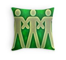 link arms and walk Throw Pillow