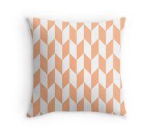 Peach Thick Offset Chevrons Throw Pillow
