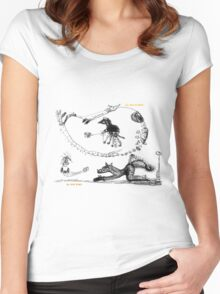 Yoga Horse (May Wendoodles Calendar 2016) Women's Fitted Scoop T-Shirt