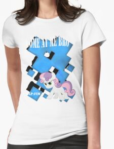 Come at Me Bro Sweetie Belle Final. Womens Fitted T-Shirt