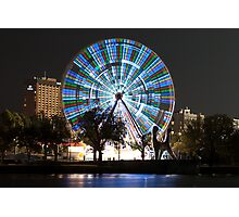 0991 Melbourne at night - The Wheel Photographic Print
