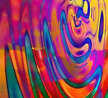 Colored Ripples - phone case by Scott Mitchell