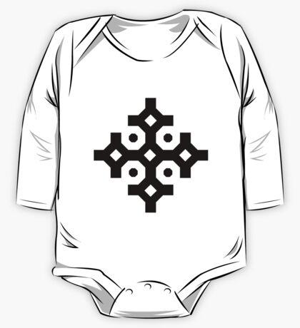 Black Snowflake One Piece - Long Sleeve