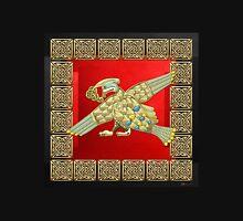 Sacred Celtic Bird on Red and Black Unisex T-Shirt