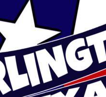 Arlington Texas flag burst Sticker