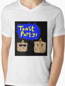 Toast Party Mens V-Neck T-Shirt