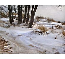 Blending Sand and Snow Photographic Print