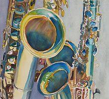 Saxy Trio I by JennyArmitage