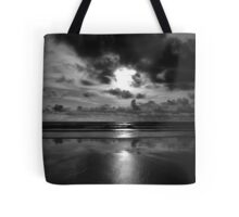 Evening on the beach 2 (Mono) Tote Bag