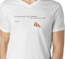 Thinking Pizza Loud Mens V-Neck T-Shirt