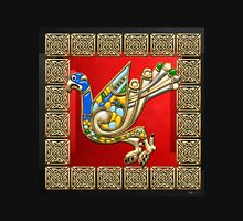Sacred Celtic Eagle on Red and Black  Unisex T-Shirt