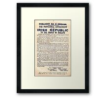 1916 Irish Proclamation Framed Print