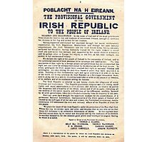 1916 Irish Proclamation Photographic Print