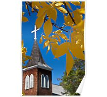 Canada. Autumn in the town of Jasper. Poster