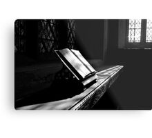 Looking through the Bible.... Metal Print
