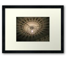 Peacock Feather Ceiling Shadows Framed Print