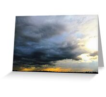 Big city storm Greeting Card