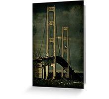 Fall Storms at the Mackinac Bridge Greeting Card