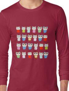 The Meow Cat Family - Dark Long Sleeve T-Shirt