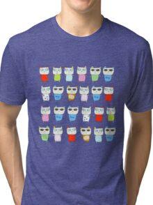 The Meow Cat Family - Dark Tri-blend T-Shirt