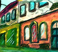 """""""Old""""  Downtown, watercolor by Anna  Lewis"""