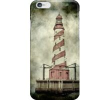 White Shoal LIghthouse on Lake Michigan Iphone case iPhone Case/Skin
