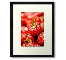 Simply Strawberries Framed Print
