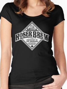 HOSER BREW - WHITE LABEL Women's Fitted Scoop T-Shirt
