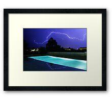 Lightning in Majorca Framed Print
