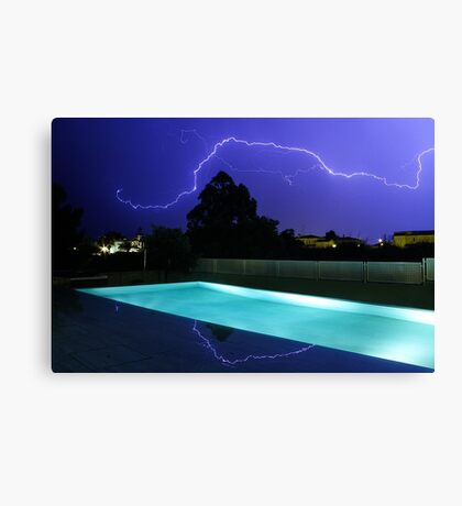 Lightning in Majorca Canvas Print