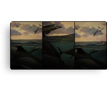 Natural History 001 Triptych Canvas Print