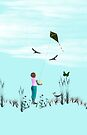 Girl with Kite II - iPhone Case by Kimberly Palmer